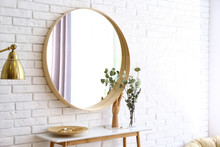 Big Round Mirror, Table With J...