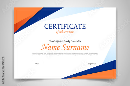 Cuadros en Lienzo certificate template banner with polygonal geometric shape for print template wi
