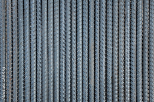 Stampa su Tela Steel rods background and textured