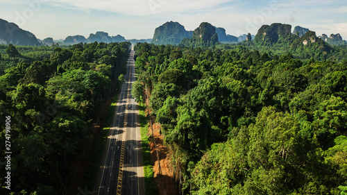 aerial view landscape of Tr...
