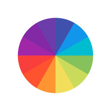 Colored Circle. Wheel Colour S...