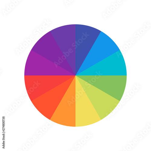 Fotografía Colored circle