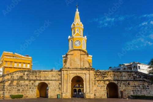 Fotografie, Obraz  Plaza de la Paz Centro Historico aera of Cartagena de los indias Bolivar in Colo