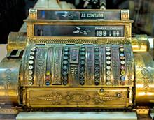 Vintage Cash Register, Old Mon...