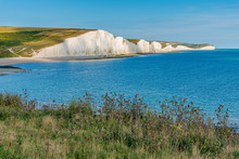 White Cliffs (Seven Sisters) East Sussex, English Coastline