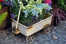 Cute Wagon Flower Planter