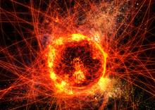 抽象的な炎の円