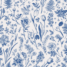 Seamless Pattern With Garden F...