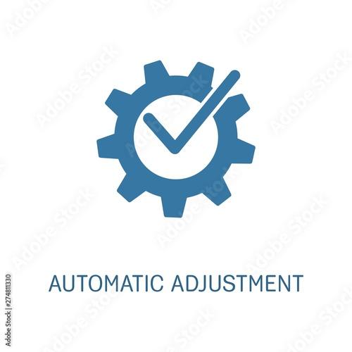 Photo Automatic adjustment .Vector icon, white background.