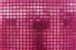 Leinwanddruck Bild - mosaic tiles background