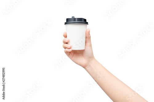 Fotografía  Take away coffee cup background