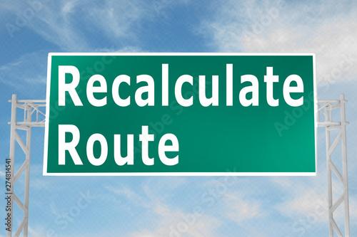 Fényképezés Recalculate Route concept