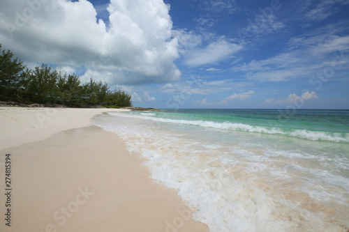 A beautiful Tay Bay Beach at the island of Eleuthera, Bahamas