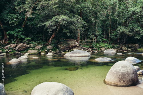 Mossman Gorge, Port Douglas, Cairns Queensland Australia Wallpaper Mural