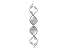 3d Rendering Of DNA String Iso...