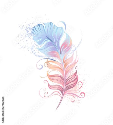 Valokuva  Fluffy powder feather
