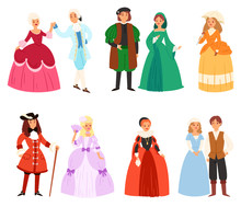 Renaissance Clothing Vector Wo...