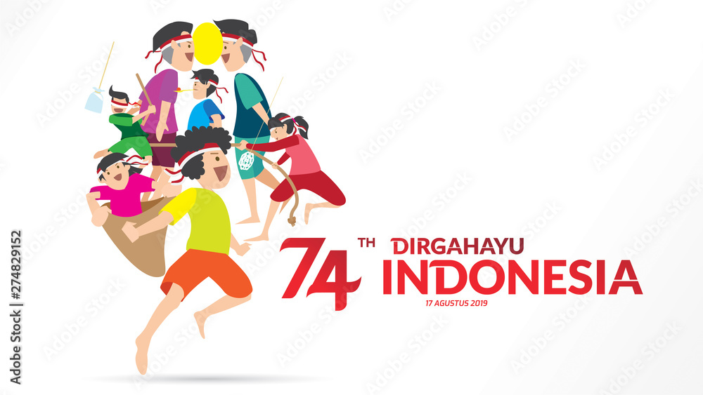 Fototapety, obrazy: indonesia independence day