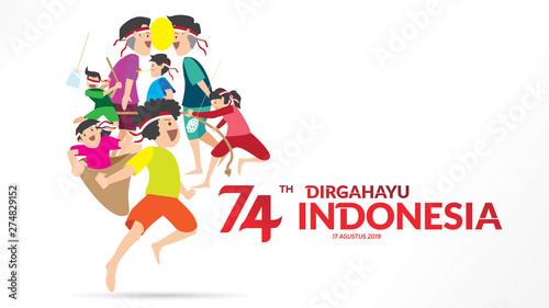 Fotografie, Obraz  indonesia independence day
