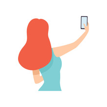 Girl Taking Selfie Photo On Sm...