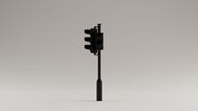 Black Traffic Light Signal 3d Illustration 3d Render