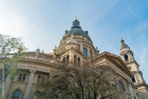 Fotobehang Exterior view of the St. Stephen's Basilica church