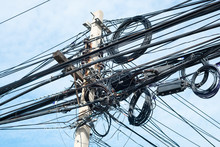 Messy Electrical Cables In Tha...