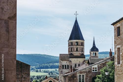 Photo Vue sur l'abbaye de Cluny, France
