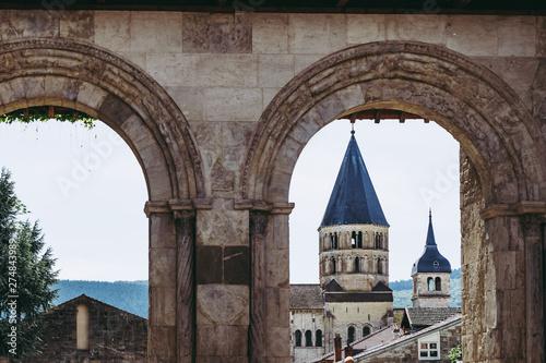 Vue sur l'abbaye de Cluny, France Wallpaper Mural