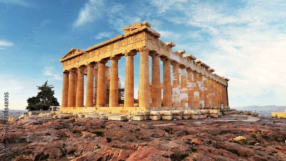 Fototapety, obrazy: Parthenon on Acropolis, Athens, Greece. Nobody