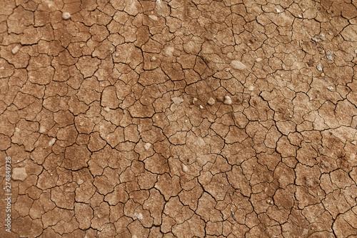 Photographie Tekstura - wyschnięty i spękany grunt