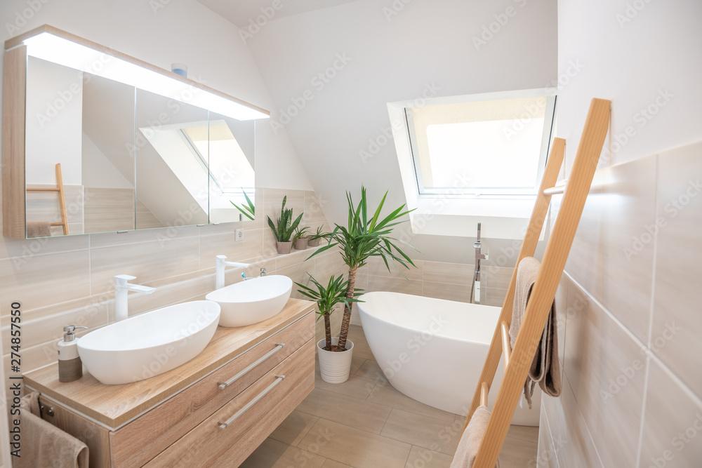 Fototapety, obrazy: Modernes Badezimmer