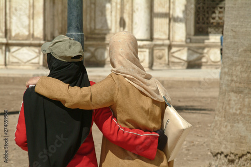 Fotografia  femme voilée religion islam musulman Egypte amitié