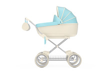 Modern Blue Baby Carriage, Str...