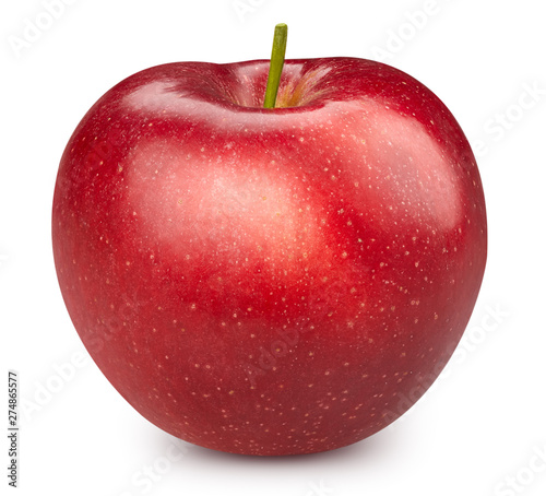Poster Individuel Red apple isolated on white
