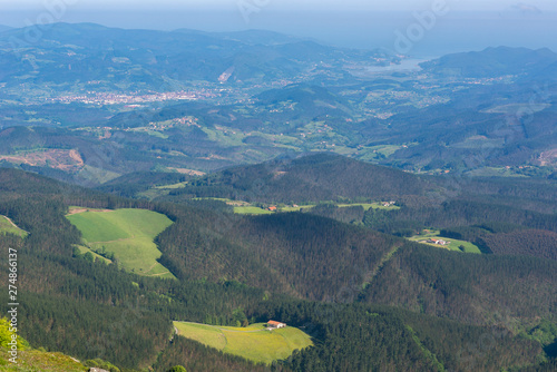 Panoramic view from Oiz mountain, Basque Country, Spain Canvas Print