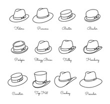 Types Of Male Classic Hats - V...