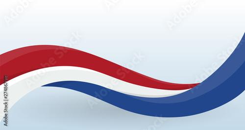 Fotografie, Obraz  Netherlands Waving National flag