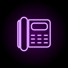 Phone Number Neon Icon. Elemen...