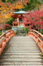 Pavilion And Bridge In Japanes...
