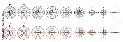 Fotografie, Obraz  compass_set