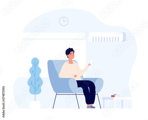 Carta da parati  Air conditioner concept