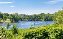 Old Railroad Bridge Over A River