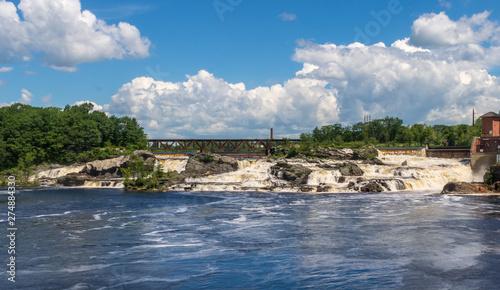 Railroad bridge above Lewiston Falls Canvas Print
