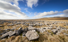 Views Of The Summit Of Ingleborough From The Limestone Formations Of Long Scar In The Yorkshire Dales.