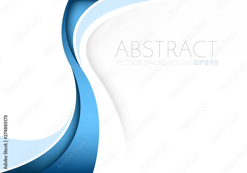 Fototapety, obrazy: Blue vector abstract blue background with copy space for your text