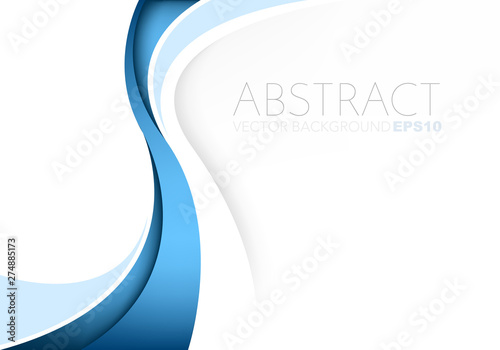 Obraz Blue vector abstract blue background with copy space for your text - fototapety do salonu