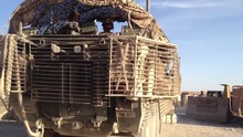 Stryker Convoy Departs On A Mission In Kandahar, Afghanistan.