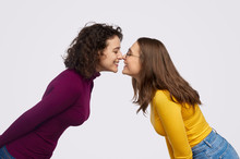 Lesbian Couple Touching Noses