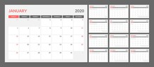 Calendar For 2020 Year In Clea...